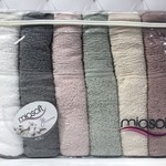 Набор полотенец для ванной 6 шт. Pupilla MIASOFT SIDE хлопковая махра 70х140, фото, фотография