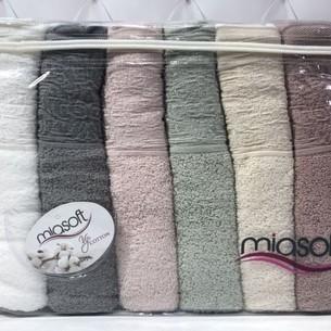 Набор полотенец для ванной 6 шт. Pupilla MIASOFT SIDE хлопковая махра 70х140