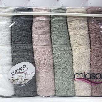 Набор полотенец для ванной 6 шт. Pupilla MIASOFT SIDE хлопковая махра