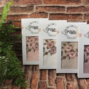 Полотенце для ванной в подарочной упаковке Pupilla HAYAL бамбуковая махра розовый 50х90