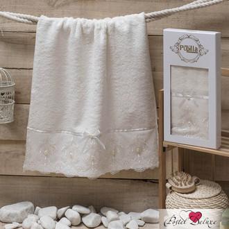 Полотенце для ванной в подарочной упаковке Pupilla INCI бамбуковая махра кремовый