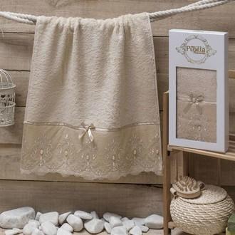 Полотенце для ванной в подарочной упаковке Pupilla INCI бамбуковая махра кофейный