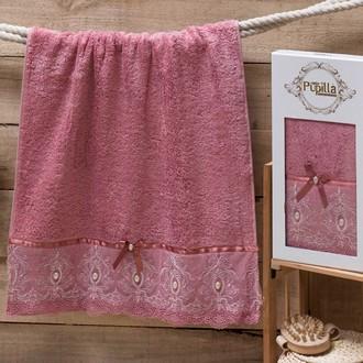 Полотенце для ванной в подарочной упаковке Pupilla INCI бамбуковая махра сиреневый