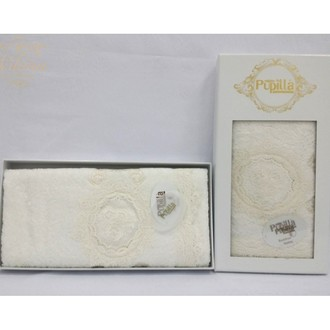 Полотенце для ванной в подарочной упаковке Pupilla OLIVYUM бамбуковая махра белый