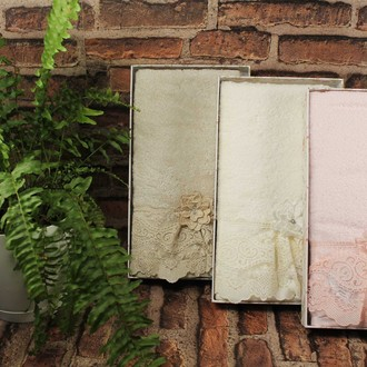 Полотенце для ванной в подарочной упаковке Pupilla ROMANTIC бамбуковая махра розовый