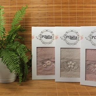 Полотенце для ванной в подарочной упаковке Pupilla SELENA бамбуковая махра кофейный