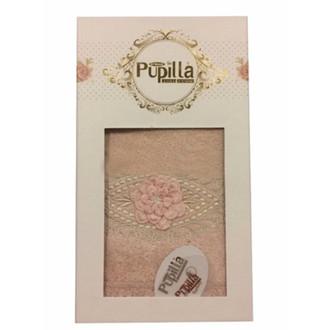 Полотенце для ванной в подарочной упаковке Pupilla STIL бамбуковая махра розовый