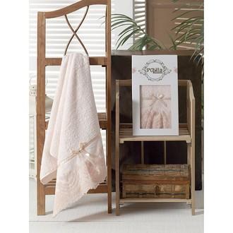 Полотенце для ванной в подарочной упаковке Pupilla VITA бамбуковая махра персиковый