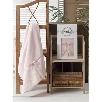 Полотенце для ванной в подарочной упаковке Pupilla VITA бамбуковая махра розовый