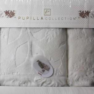 Набор полотенец для ванной в подарочной упаковке 2 пр. Pupilla AMAZON хлопковая махра белый