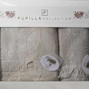 Набор полотенец для ванной в подарочной упаковке 2 пр. Pupilla AMAZON хлопковая махра бежевый