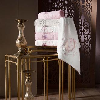Набор полотенец для ванной в подарочной упаковке 2 пр. Pupilla BEYZA бамбуковая махра белый