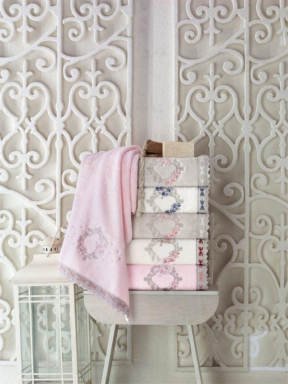 Набор полотенец для ванной в подарочной упаковке 2 пр. Pupilla CEMRE бамбуковая махра кофейный, фото, фотография
