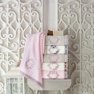 Набор полотенец для ванной в подарочной упаковке 2 пр. Pupilla CEMRE бамбуковая махра розовый