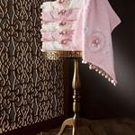 Набор полотенец для ванной в подарочной упаковке 2 пр. Pupilla LIZA бамбуковая махра белый, фото, фотография