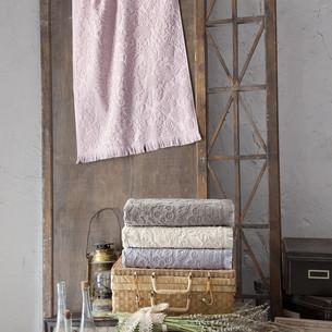 Набор полотенец для ванной в подарочной упаковке 2 пр. Pupilla MAYA хлопковая махра бежевый