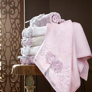 Набор полотенец для ванной в подарочной упаковке 2 пр. Pupilla ROSELINDA бамбуковая махра сиреневый