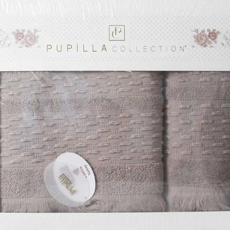 Набор полотенец для ванной в подарочной упаковке 2 пр. Pupilla STORY хлопковая махра серый
