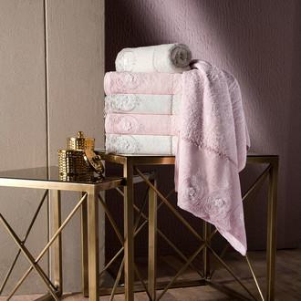 Полотенце для ванной в подарочной упаковке Pupilla ALVIN бамбуковая махра розовый