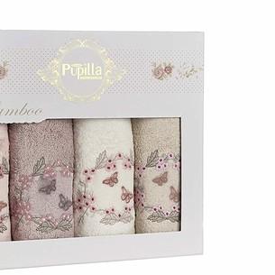 Набор полотенец для ванной в подарочной упаковке 4 шт. Pupilla ARMONI бамбуковая махра 50х90