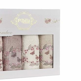 Набор полотенец для ванной в подарочной упаковке 4 шт. Pupilla ARMONI бамбуковая махра