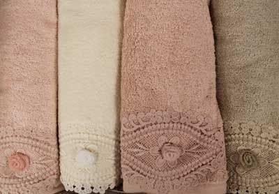 Набор полотенец для ванной в подарочной упаковке 4 шт. Pupilla DAISY бамбуковая махра 50х90, фото, фотография
