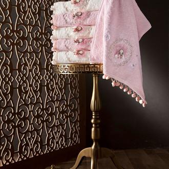 Набор полотенец для ванной в подарочной упаковке 4 шт. Pupilla LIZA бамбуковая махра