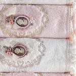 Набор полотенец для ванной в подарочной упаковке 4 шт. Pupilla LIZA бамбуковая махра 50х90, фото, фотография