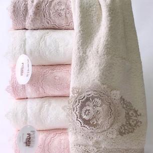 Набор полотенец для ванной в подарочной упаковке 4 шт. Pupilla OLIVYUM бамбуковая махра 50х90