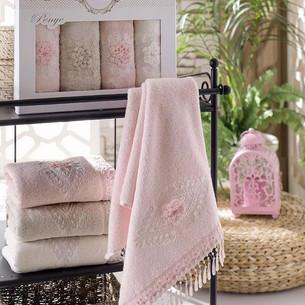 Набор полотенец для ванной в подарочной упаковке 4 шт. Pupilla STIL бамбуковая махра 50х90