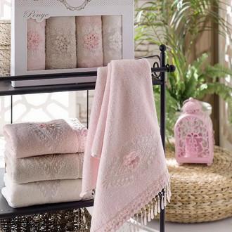 Набор полотенец для ванной в подарочной упаковке 4 шт. Pupilla STIL бамбуковая махра