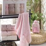 Набор полотенец для ванной в подарочной упаковке 4 шт. Pupilla VITA бамбуковая махра 50х90, фото, фотография