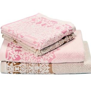Набор полотенец для ванной 4 шт. Ozdilek AMATA хлопковая махра розовый 100х150
