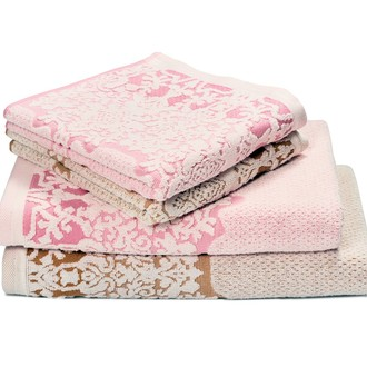 Набор полотенец для ванной 6 шт. Ozdilek AMATA хлопковая махра розовый
