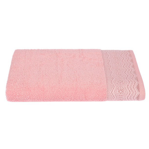 Набор полотенец для ванной 4 шт. Ozdilek ANISSA хлопковая махра розовый 90х150