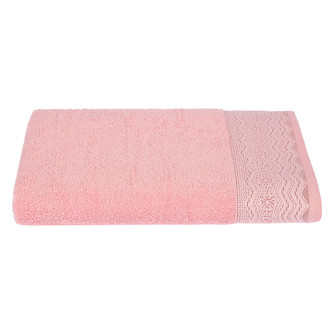 Набор полотенец для ванной 4 шт. Ozdilek ANISSA хлопковая махра розовый