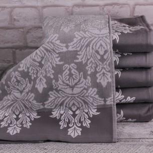 Набор полотенец для ванной 4 шт. Ozdilek AYDA хлопковый велюр серый 100х150
