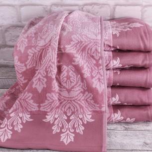Набор полотенец для ванной 6 шт. Ozdilek AYDA хлопковый велюр розовый 70х140