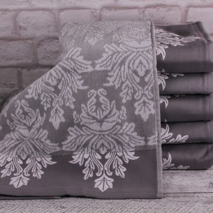 Набор полотенец для ванной 6 шт. Ozdilek AYDA хлопковый велюр серый 50х90