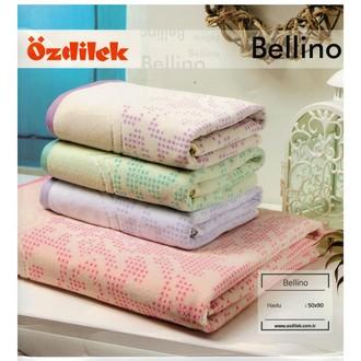 Набор полотенец для ванной 6 шт. Ozdilek BELLINO хлопковый велюр розовый