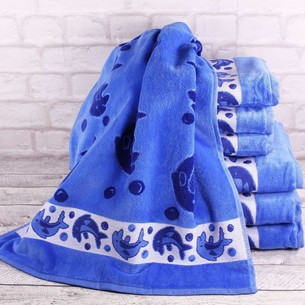 Набор полотенец для ванной 6 шт. Ozdilek DOLPHIN хлопковый велюр 50х90