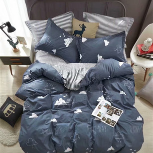 Постельное белье Tango TWILL 777 хлопковый сатин 2-х спальный (нав. 70х70)