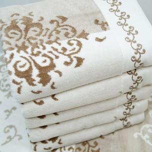 Набор полотенец для ванной 6 шт. Ozdilek EMILY хлопковый велюр кофейный 70х140