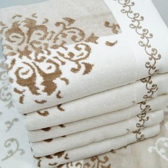 Набор полотенец для ванной 6 шт. Ozdilek EMILY хлопковый велюр кофейный