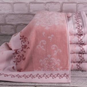 Набор полотенец для ванной 4 шт. Ozdilek EMILY хлопковый велюр розовый 100х150