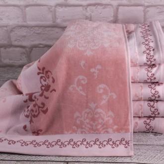 Набор полотенец для ванной 4 шт. Ozdilek EMILY хлопковый велюр розовый