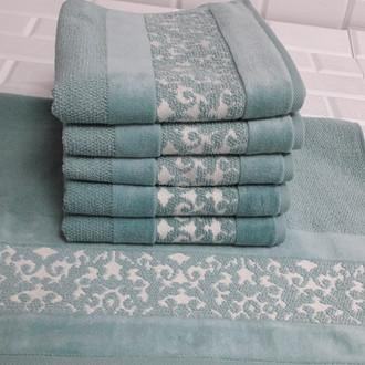 Набор полотенец для ванной 4 шт. Ozdilek LAVIEN хлопковая махра мятный