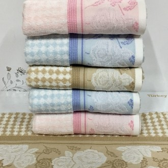 Набор полотенец для ванной 6 шт. Ozdilek LETYA хлопковая махра розовый