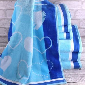 Набор полотенец для ванной 6 шт. Ozdilek LOVE STORY хлопковая махра голубой
