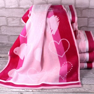 Набор полотенец для ванной 6 шт. Ozdilek LOVE STORY хлопковая махра розовый 50х90
